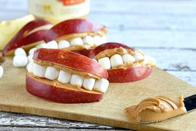 apple peanut butter mouths