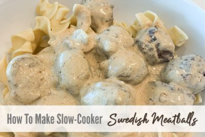 Slow-cooker Swedish Meatballs