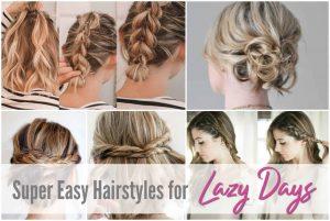 hairstyles, medium, lazy, girl, tutorials