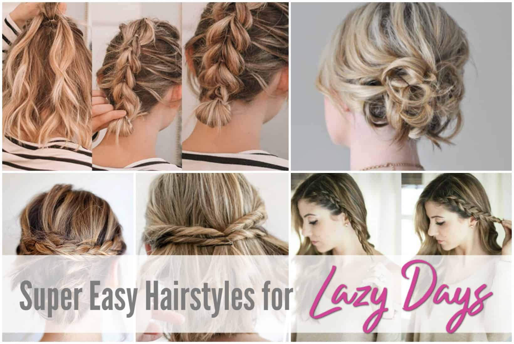 hairstyles, medium, lazy, girl, tutorials