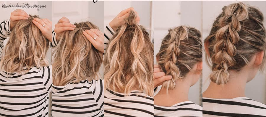 easy hairstyles, medium hair, lazy, tutorials