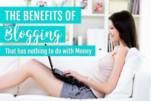 the benefit of blogging