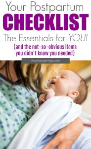 postpartum essentials - all your needs and ist for new mom items after you give birth #postpartum #pregnancy #baby #birth #afterbirth #essentials #tips