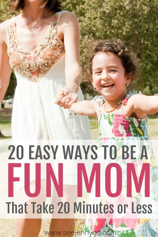 how to be a fun mom - easy and simple ways to have fun with your kids - 20 ways to be more fun as a mom #mom #fun #kids #bonding #tips #ideas #connect #children #qualitytime