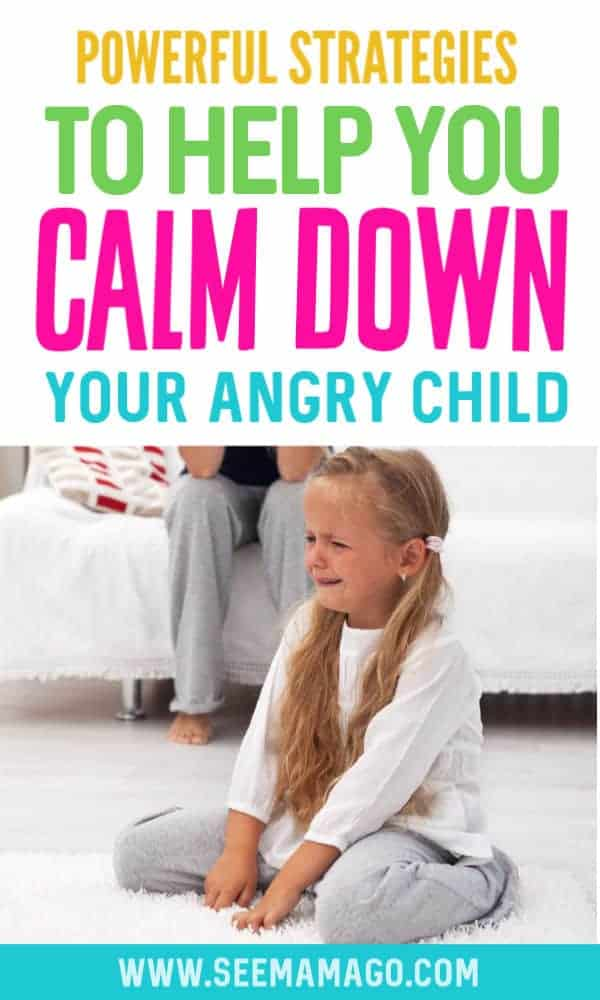 Teach kids to calm down and learn how to handle their big emotions with these simple solutions. These easy tips will help kids calm down and control their anger and outbursts. Teach angry kids to calm down once and for all #positiveparenting #bigemotions #temper #outbursts #calmdown #strongwilled