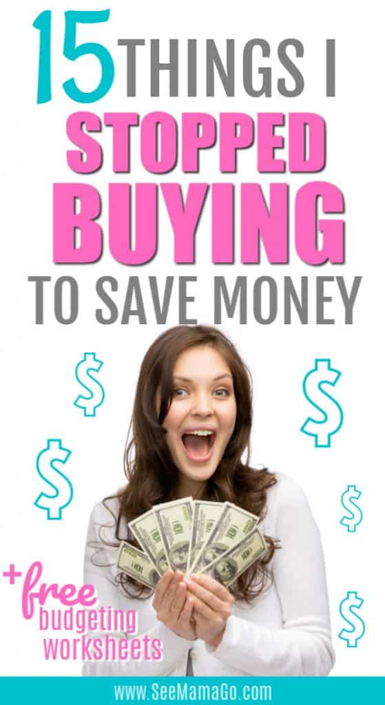 budget hacks, save money, stop buying