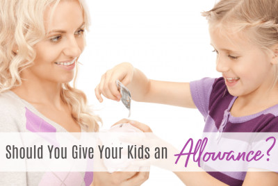 Giving kids an allowance, money system for chores