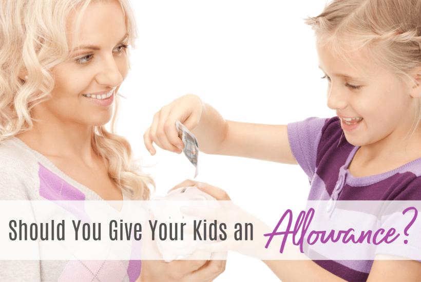 Giving kids an allowance, money system for chores