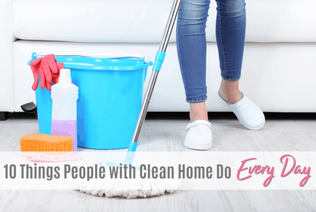 make your home appear cleaner and more organized with very little effort, how to keep a clean house, simple ideas and solutions for the busy mom