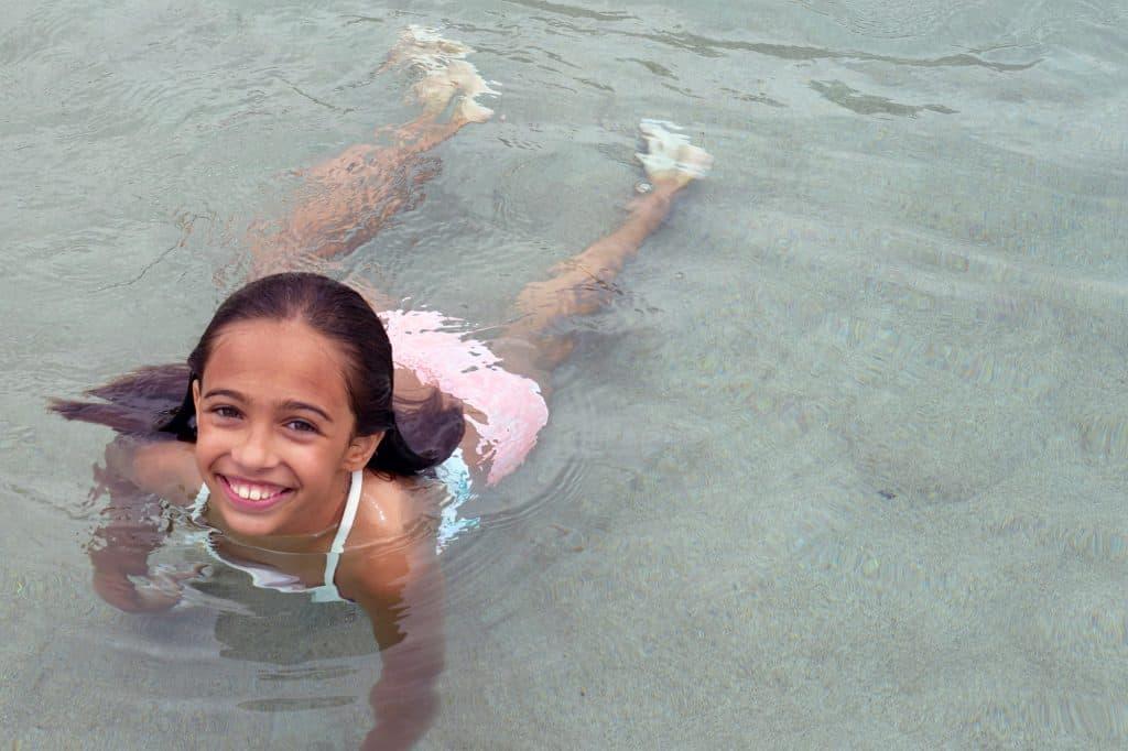 swimming at the Hyatt Regency Scottsdale