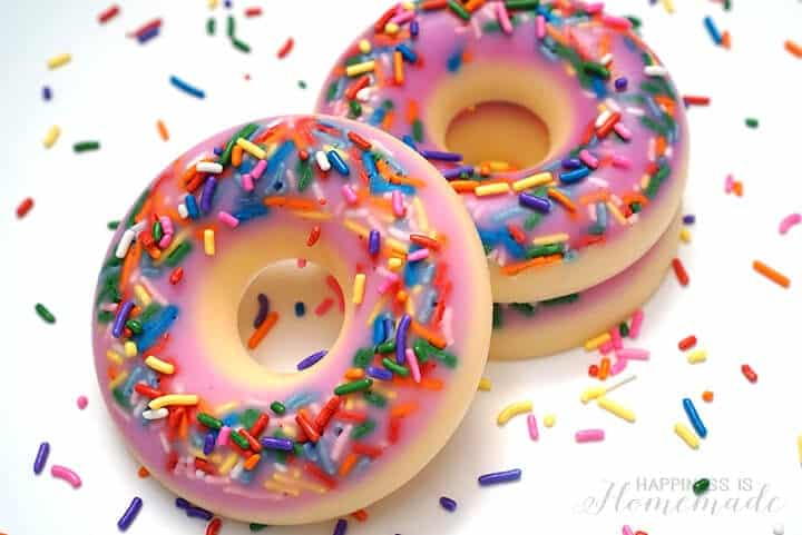 DIY crafts for teens, donut scented soap
