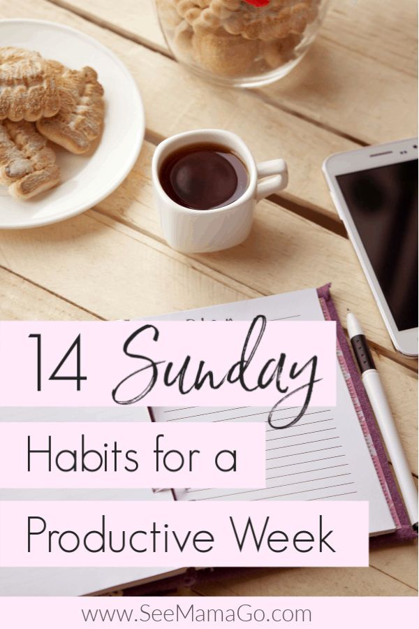 Sunday habits for a more productive week