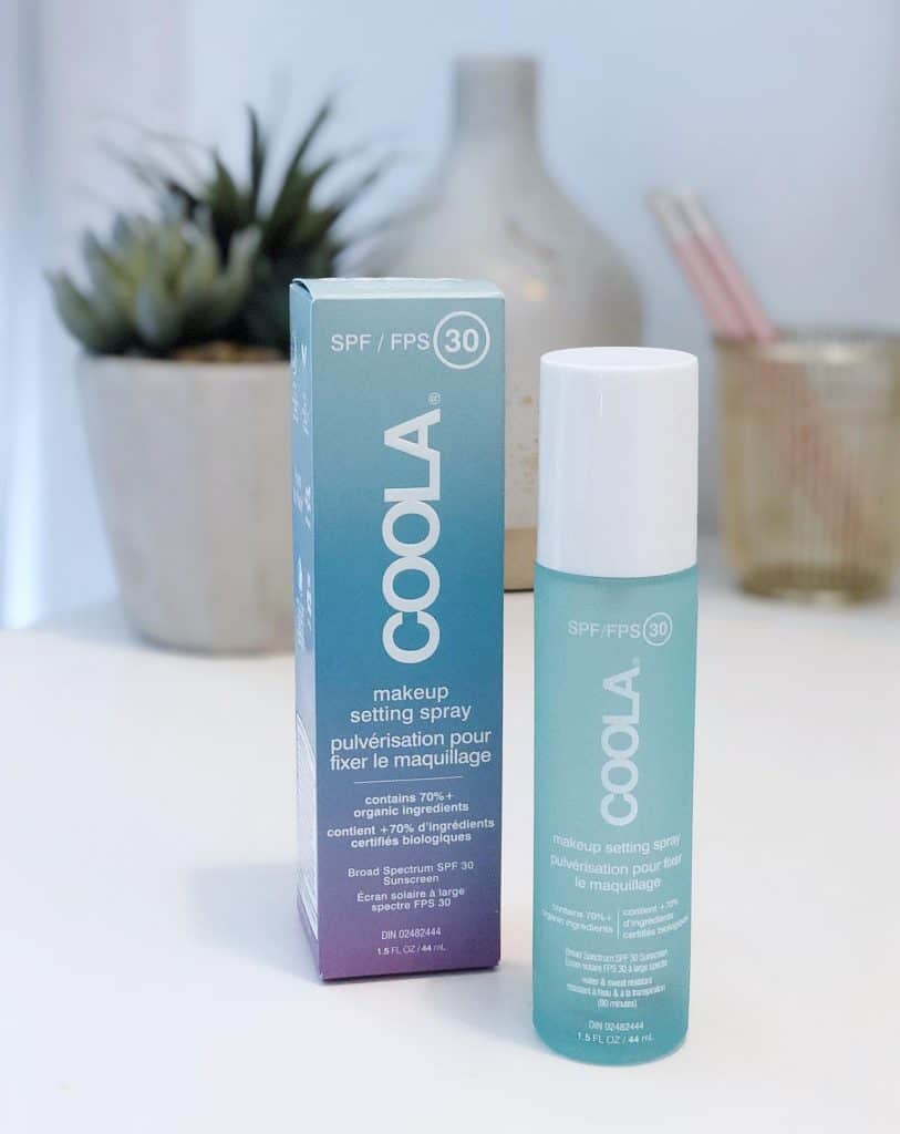 Coola organic SPF 30 Makeup setting sunscreen spray