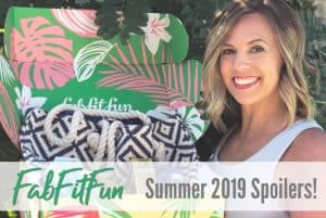 fabfitfun summer 2019 subscription box, spoilers, review