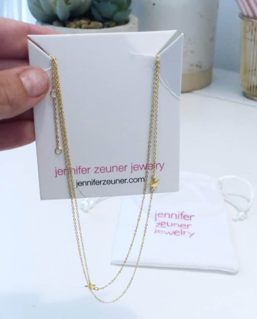 Jennifer Zener star double necklace