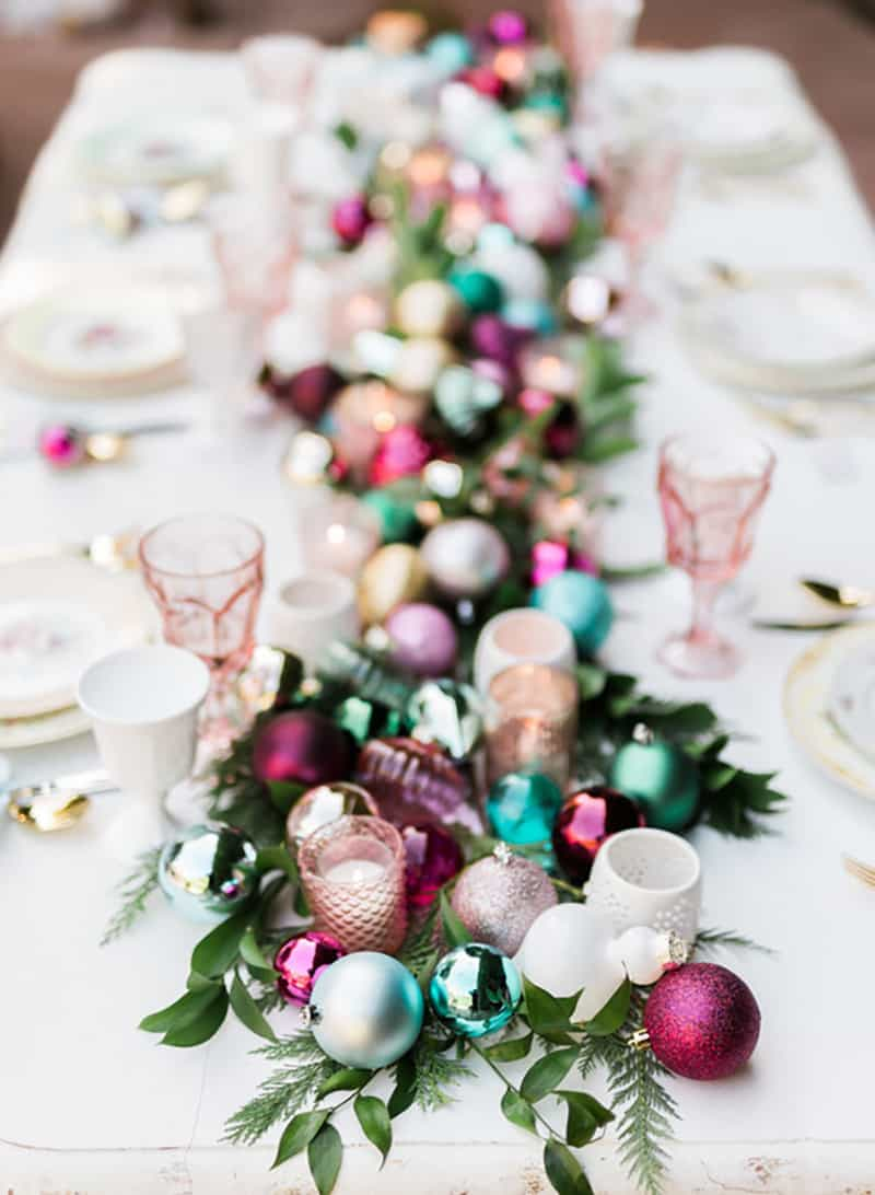 Colorful Holiday Table Decor