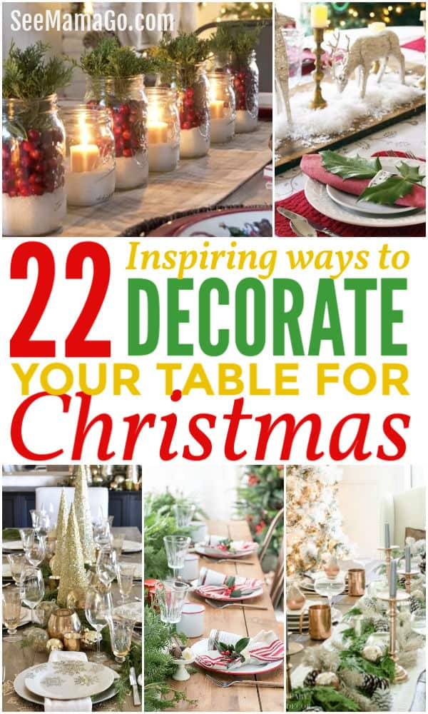 Holiday table setting ideas, tablescape, DIY