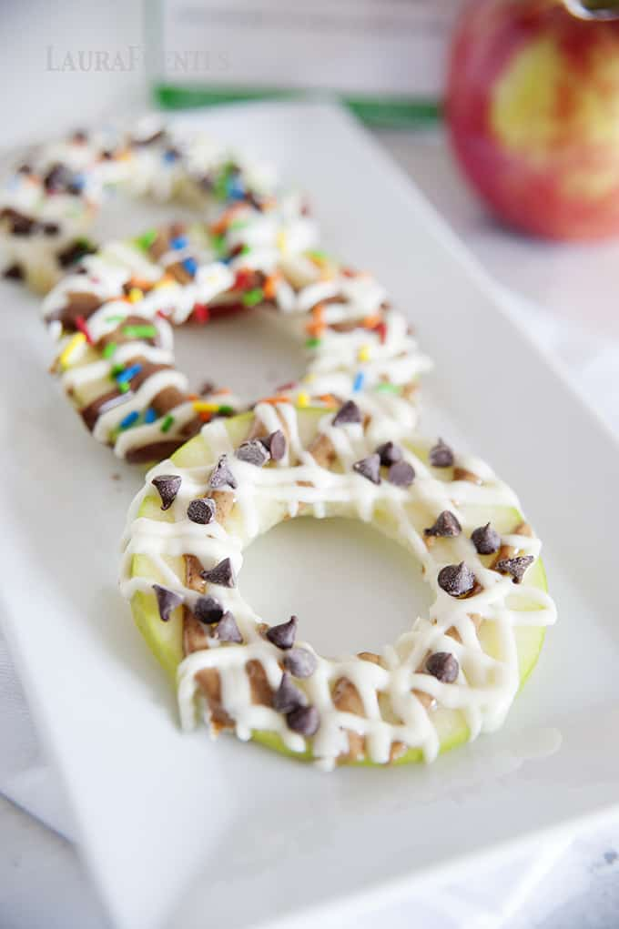 healthy snacks, apple donuts