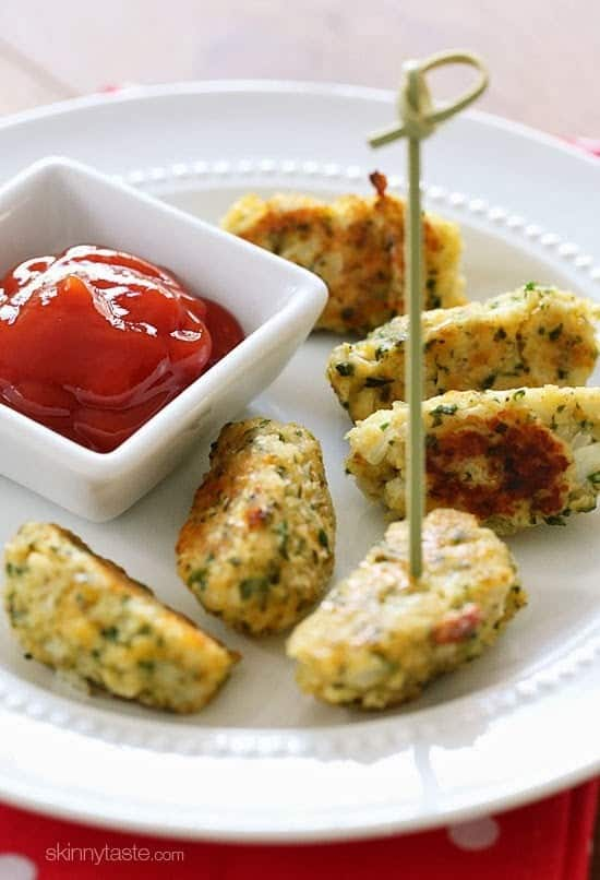 healthy snack ideas, cauliflower tots