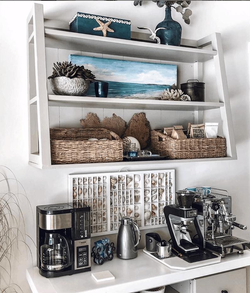 beach coffee station