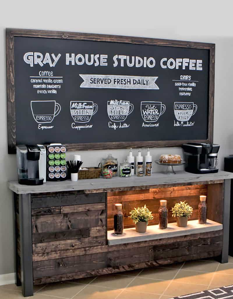 DIY home coffee station