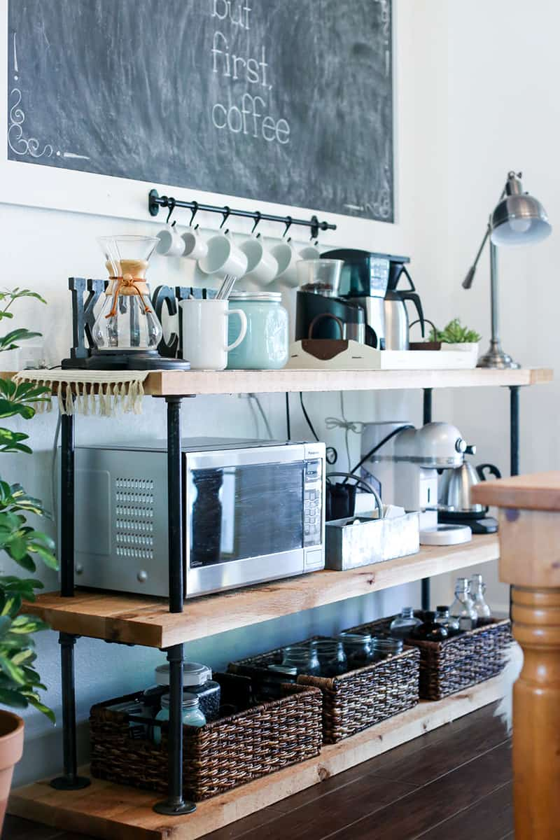 Black Pipe Coffee Station DIY