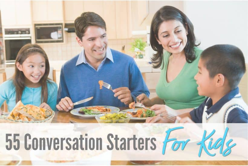 conversation starters for kids, free printable