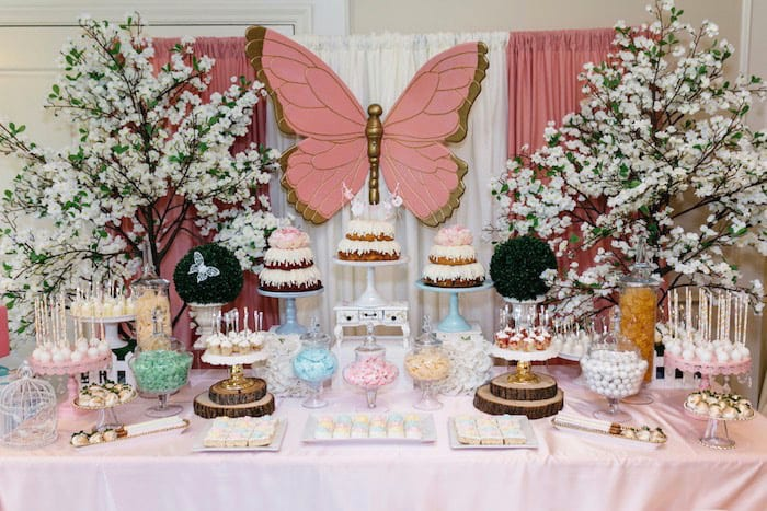 enchanted garden baby shower