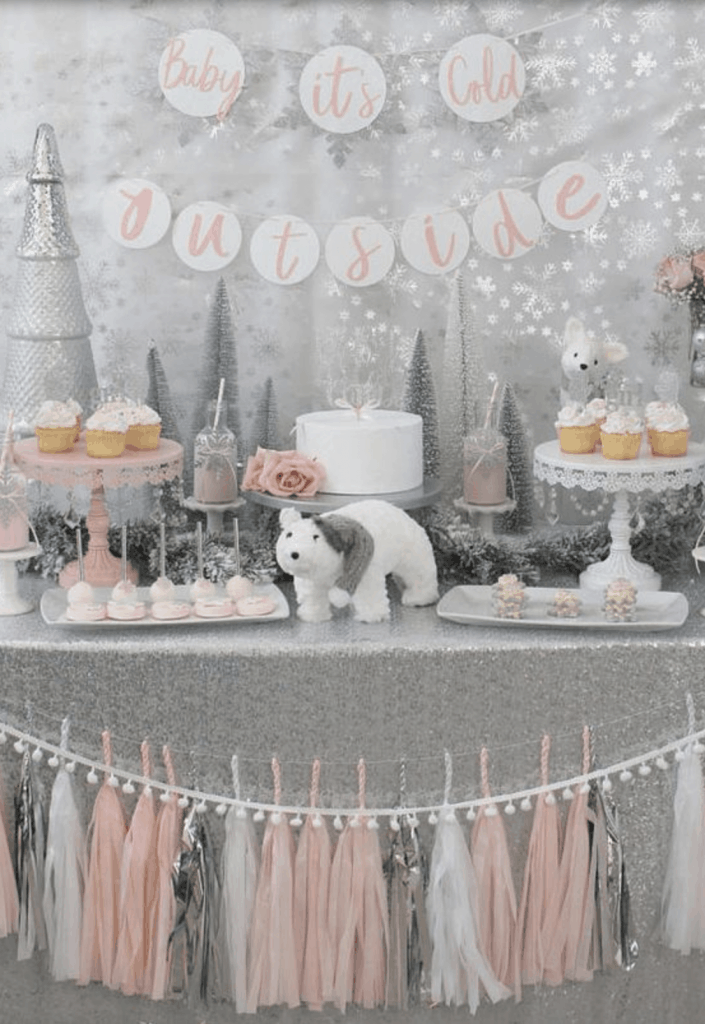 baby its cold outside baby shower theme
