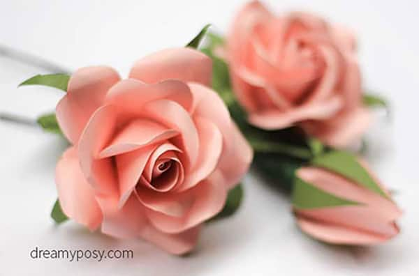 how to make paper roses at home