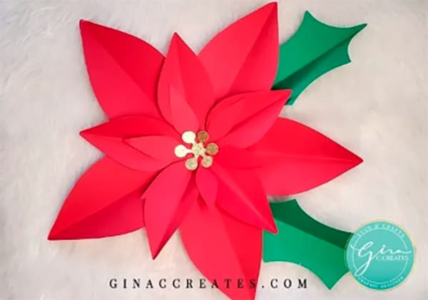 How to Make a Paper Poinsetta
