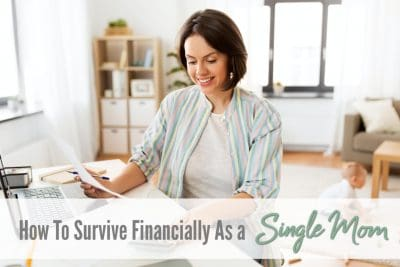 how to survive financially as a single mom