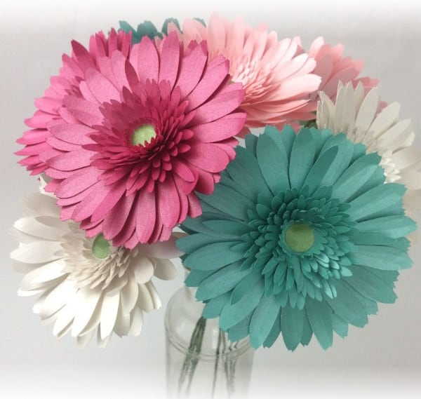 How to make paper Gerbera Daisy