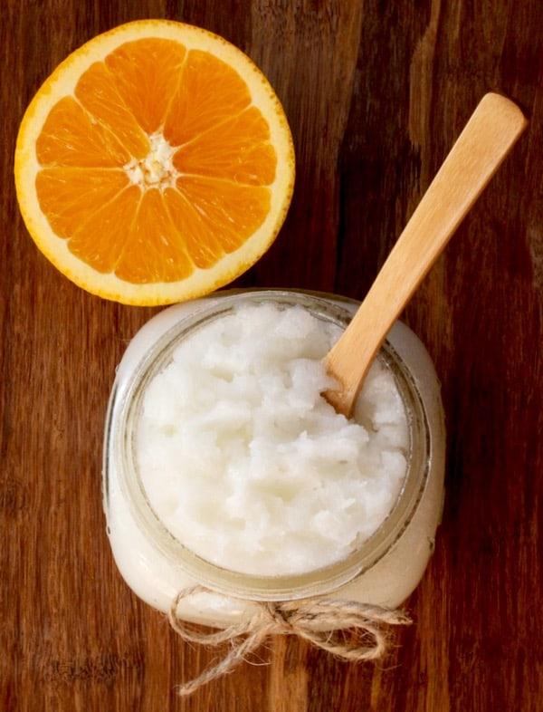 DIY Orange Sugar Scrub – Creamsicle Swirl