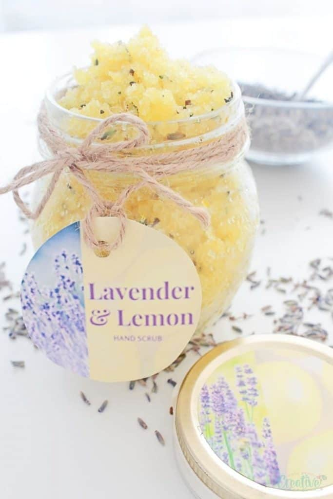 Lemon and Lavender Sugar Scrub