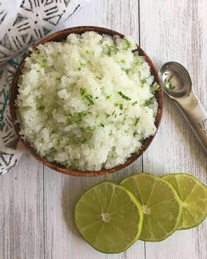 Lime and Sea Salt Sugar Scrub