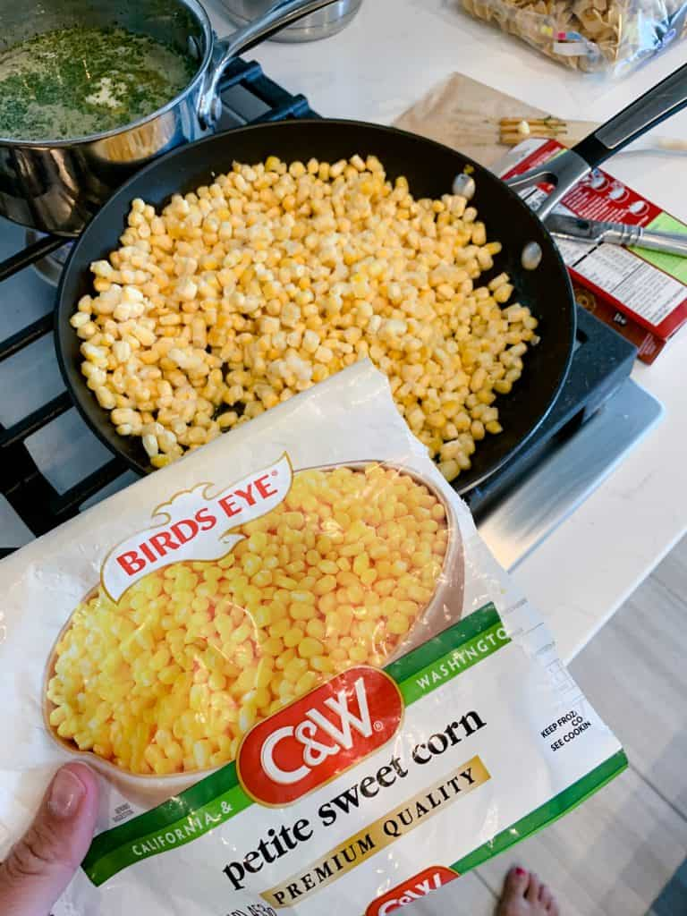 frozen corn for recipe