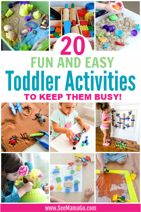 20 fun and Easy Toddler Activities