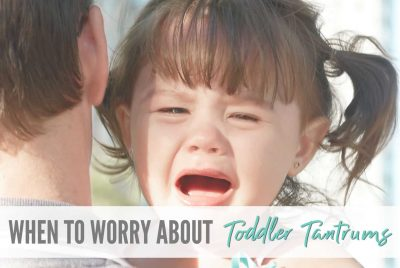 When to worry about toddler temper tantrums