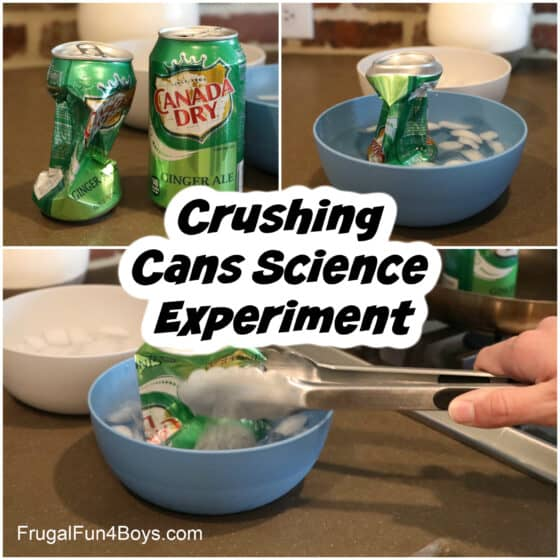 Crushing cans science experiment