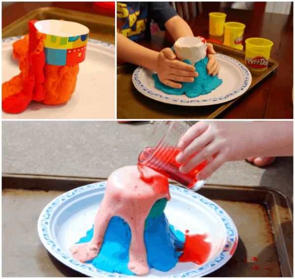 Homemade volcano DIY