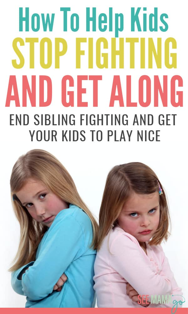 How to put an end to sibling fighting