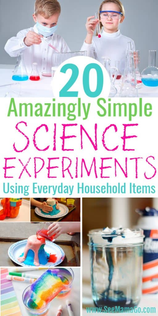 20 Amazingly Simple Science Experiments for kids you can do at home
